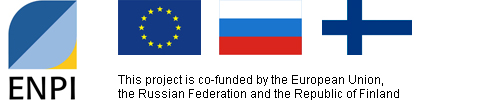 Logos and text: this project is co-funded by the European Union, the Russian Federation and the Republic of Finland.