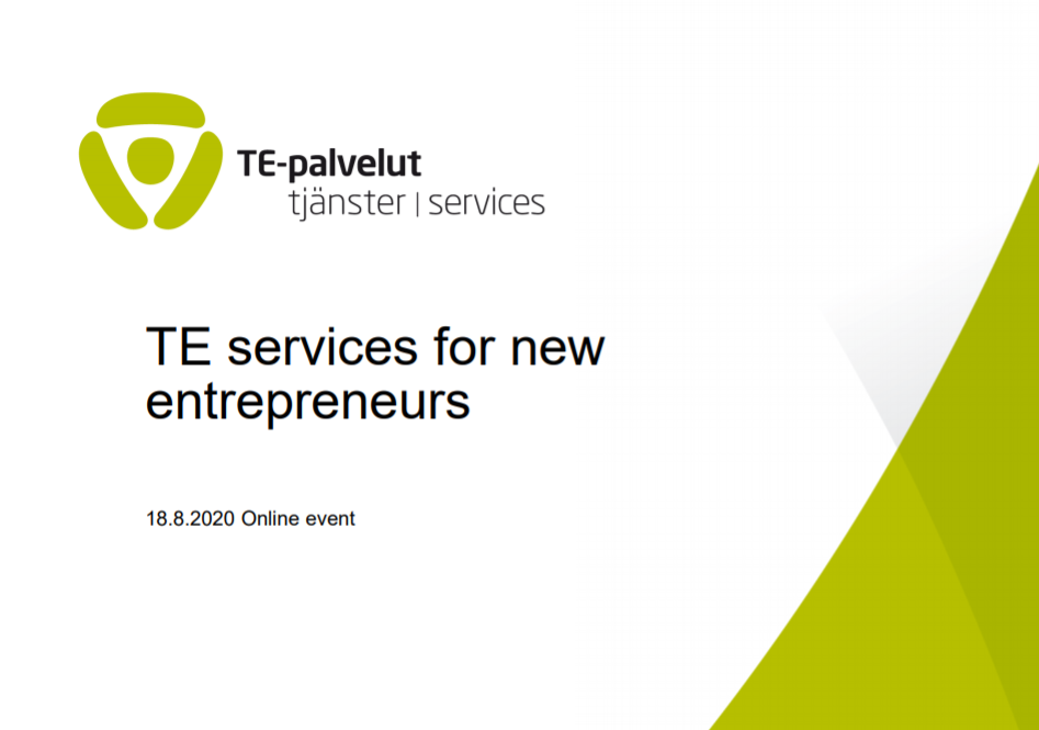 TE services for new entrepreneurs presentation cover